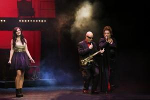 18.Študentka Muzikálovej akadémie Natália Kóšová mala tú česť zaspievať si na javisku s Ivanom Verešom a Brigitou Szelidovou
