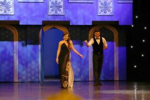 26. Hrečka a speváčka Natália Hatalová v doprovode choreografa Laca Cmoreja
