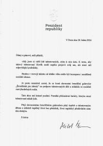 Príhovor prezidenta ČR J.E. Miloša Zemana
