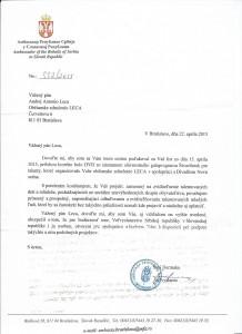 Referencia od veľvyslanca Srbskej republiky v SR