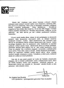 Referencia od gen.riaditeľa SND Ondreja Šotha