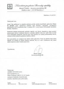 Referencia pre LECA production z Kancelárie prezidenta SR Ivana Gašparoviča