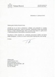 Záštita starostky MČ Bratislava Staré Mesto Tatiany Rosovej nad 2.ročníkom galavečera Vietor do plachiet